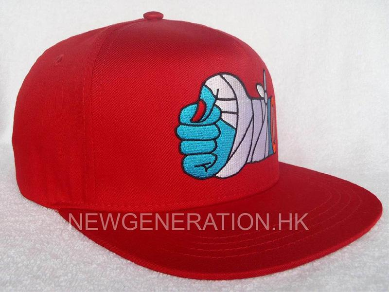 Cotton Snapback Cap with Flat Embroidery