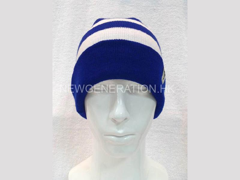Custom Beanie Hat With Stripe Pattern And Custom Label1