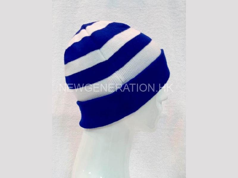 Custom Beanie Hat With Stripe Pattern And Custom Label2