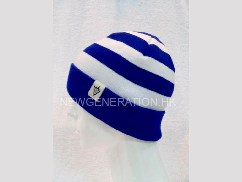Custom Beanie Hat With Stripe Pattern And Custom Label4