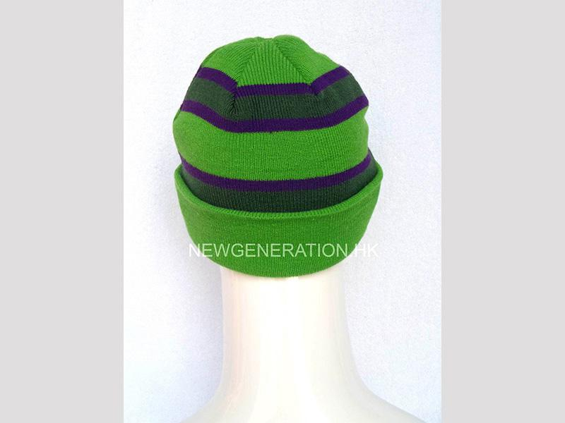 Tuque With Jacquard Stripes And Custom Label3