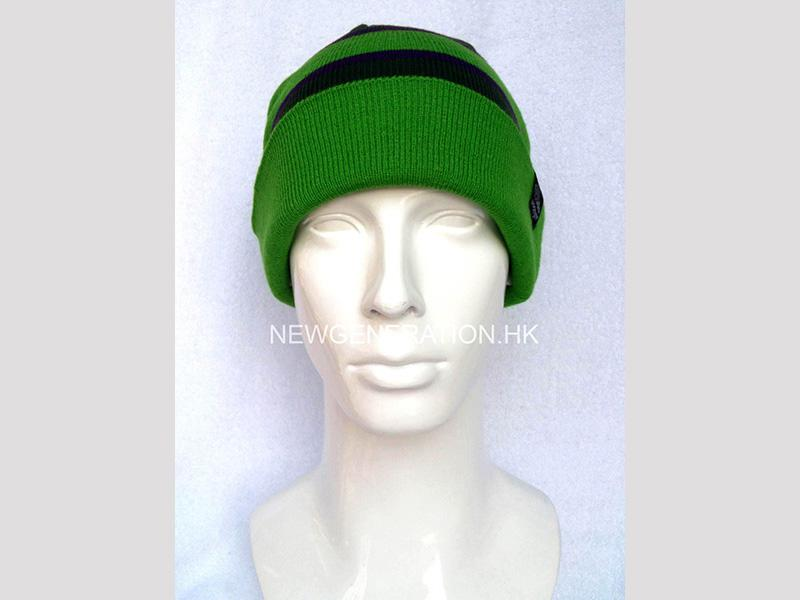 Tuque with Jacquard Stripes and Custom Label
