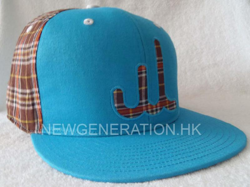 Cotton Snapback Cap with Fabric Logo and Embroidery Outline
