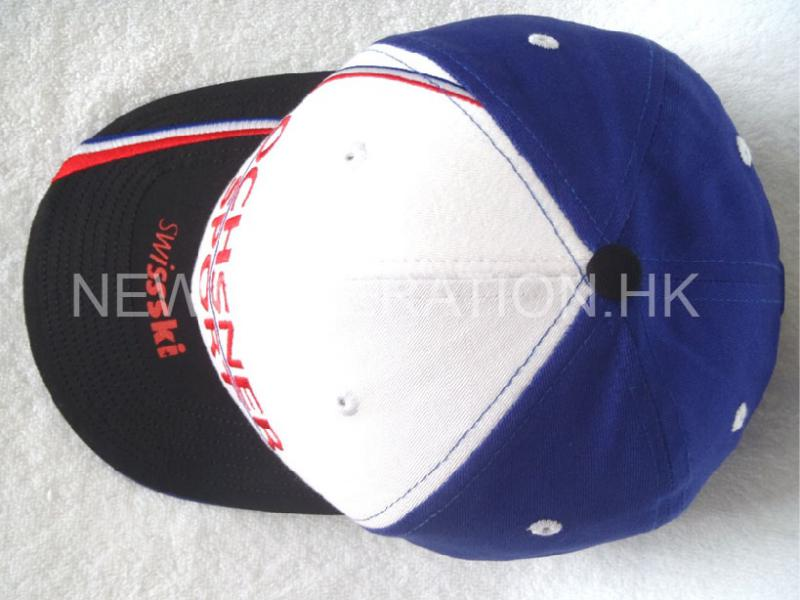 Racing Cap With Curved Visor And Custom Taping4