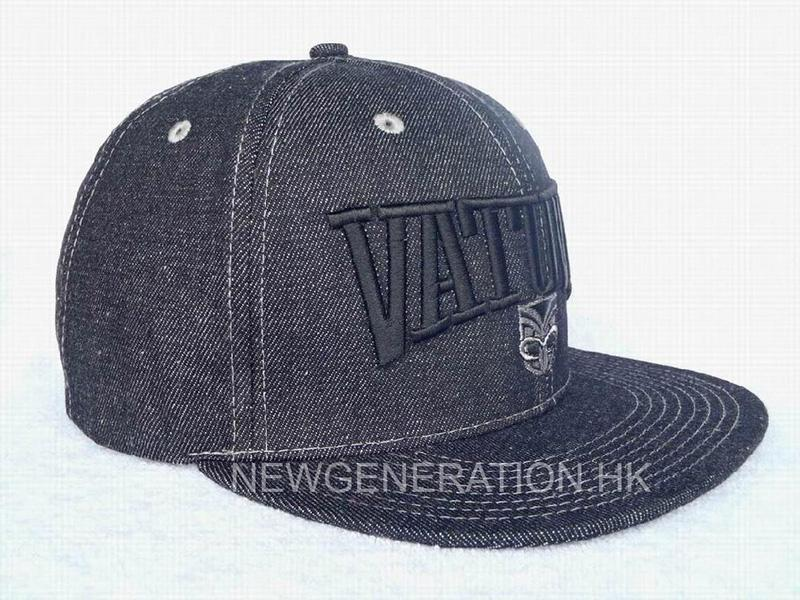 Denim Cap with Big 3D Embroidery and Two Color Snap