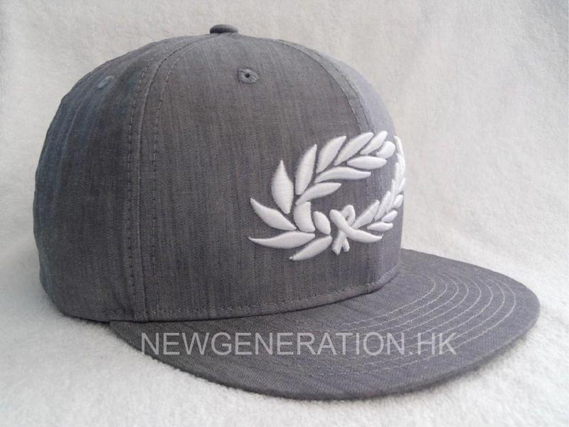 Denim Cotton Snapback Cap with 3D Embroidery