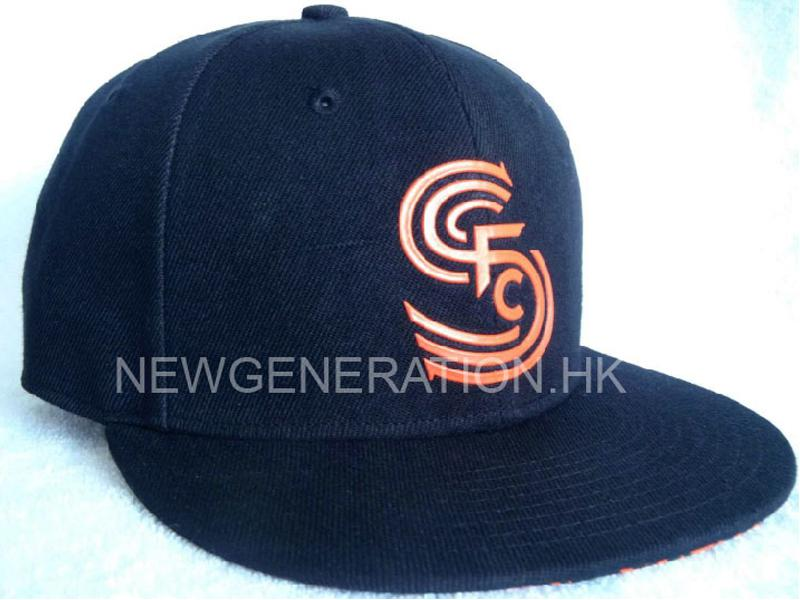 Acrylic Fitted Cap with Sonic Weld Applique Logo