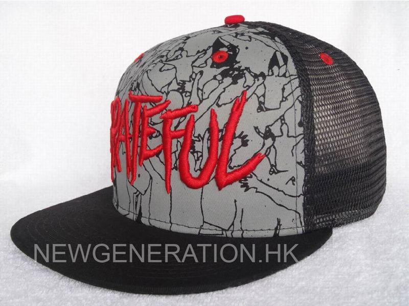 Mesh Trucker Cap With 3d Embroidery And Print2