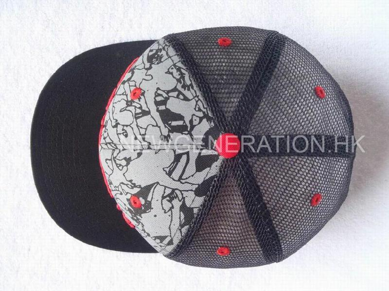 Mesh Trucker Cap With 3d Embroidery And Print4