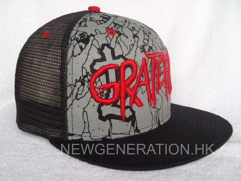 Mesh Trucker Cap with 3D Embroidery and Print