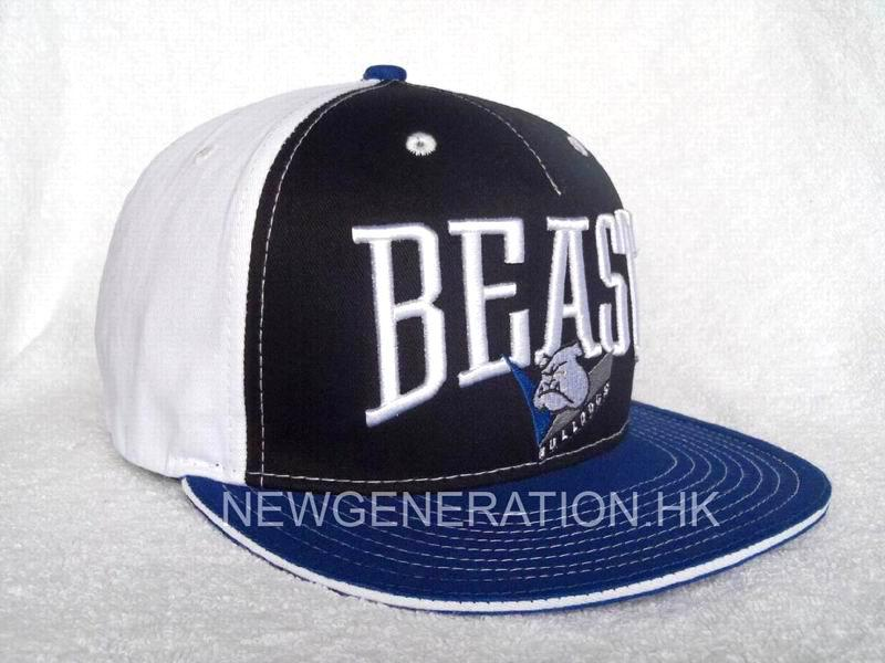 Cotton Snap Back Hat with 3D Embroidery