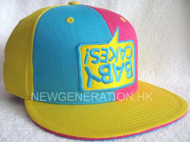 Cotton Fitted Cap With 3d Embroidery1