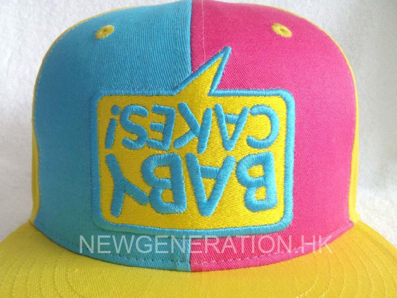 Cotton Fitted Cap With 3d Embroidery3