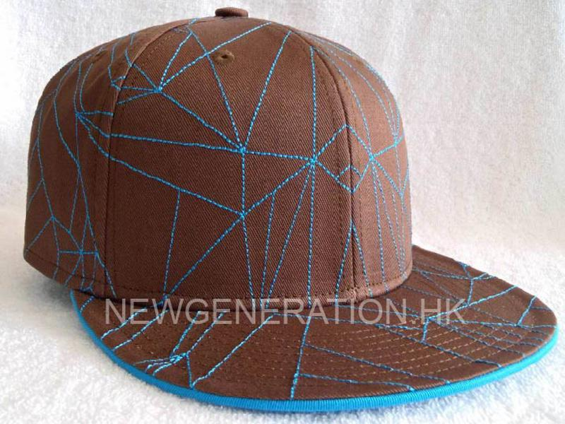 Custom Cap With Stitching On Crown And Peak